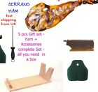 SETS CURED SPANISH  HAM  JAMON SERRANO SHOULDER (PALETA) 4 Kg. -  FREE DELIVERY
