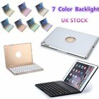 New Bluetooth Keyboard Case Cover with 7 Color Backlit Colorful for iPad Air 2