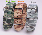 20mm Nylon Watchband Camouflage Printed Watch Strap Wristwatch 3color available
