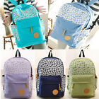 Fashion Women Lady Floral Canvas Satchel Backpack Shoulder School Bag Handbag