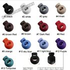 Colorful Round Ball Buckles Toggle Spring Stopper Drawstring rope Cord lock 6mm