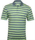 Nike Tech Vent Stripe Polo Golf Shirt Grey Volt DriFit 639710-088$65 Mens S->2XL