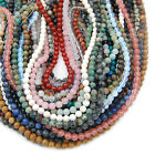 """Fashion Natural Gemstones Round Loose Beads Jewelry Making 15""""-16"""" 4mm 6mm 8mm"""