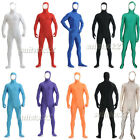 Face out Unisex Spandex Skin Suit Catsuit Halloween Zentai Bare face Costumes