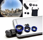 3 in 1 FishEye WideAngle Micro Telephoto Clip-On Lens iPhone 7 Plus 5 6 7 S8 All