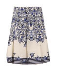 PER UNA M&S NEW CREAM BLUE NAVY ABSTRACT FLORAL PRINT MINI SKIRT SIZES 10-16