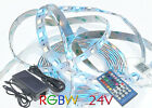 2,5 - 5 M LED Streifen 24 Volt LED Stripe 24V RGB+W RGBW 5050 60 LED Set WW KW