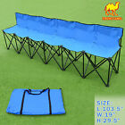 Outdoor Folding Portable Team Sports Sideline Bench 6 Seater Waterprove Carrybag