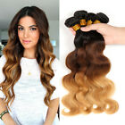 4 bundles Ombre Brazilian Body Wave Ombre Human Hair Weave Extension 200g