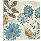 funky canvas art - Premium Thick-Wrap Canvas Wall Art entitled Funky Flowers V