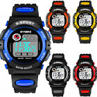 Kids Child Boy Girl Waterproof Multifunction Sports Electronic Watches Xmas Gift image