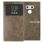 For LG V10 / G6 Case Clear Window View Flip Leather wallet cover Lock hold