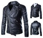 Brando New Men's Motorcycle Style Biker PU Leather Hoodie Jacket Fahion Coats
