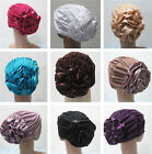 Women Muslim Flower Caps Islamic Under scarf Hats Cotton Inner Hijab Middle East