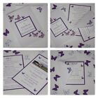 Handmade BUTTERFLY wedding: CLASSIC INVITATION & INSERTS & RSVP; 60 colours