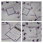 Handmade BUTTERFLY wedding: GATEFOLD INVITATION & INSERTS & RSVP; 60 colours