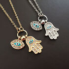 Fatima Palm Necklace Evil Eye Hamsa Hand Chain Pendant Jewelry For Women New Fad