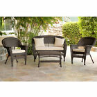 4 Piece Patio Conversation Set with Cushions by Jeco
