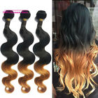 3 Bundles Peruvian Virgin Body wave Human Hair Extesions 150g #1B/27 3pcs