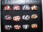 Exotic Safari Animal Print Acrylic Fashion Ring Szs 7-9