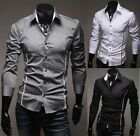 POLO Style New Men's Luxury Stylish Perfect Slim Fit Dress Shirt Elegant Blouse