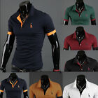 Fashion-Mens-Loose-Collar-Slim-Fit-POLO-Short-sleeved-T-shirt-10-Colors-5-Size