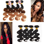 4 bundles Brazilian Virgin Body Wave Real Human Hair Extension Ombre Black 200g