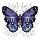 PURPLE AND BLACK BUTTERFLY T-SHIRT (UNISEX FIT) NOVELTY