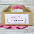 Personalised Children's Wedding Favour Activity | Gift Party Box Bag Kraft Brown