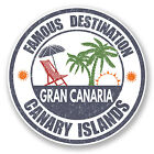 2 x 10cm Gran Canaria Canary Islands Vinyl Sticker Laptop Luggage Travel #6720