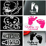 Milk Feeding Baby in car Sticker Vinyl Decal Car Latop Window Wall Bumper Decor