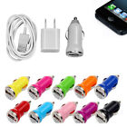 Hot Sale USB Car AC Wall Charger Data Sync Cable For Apple Iphone 5/5S/5c