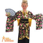 Child Geisha Girls Costume Chinese Oriental Kimono Japanese Fancy Dress Outfit