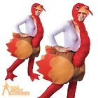 Adult Step In Turkey Costume Animal Mens Womens Fancy Dress Outfit New