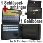 2 Wallets = 1 Purse purce + 1 Keychain with Coin Note compartment / Leather