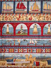 Freedom Ahoy! Lighthouse dolphin sailboat Teresa Kogut cotton quilt fabric