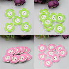 10Pcs Cute Plastic Button 2 Holes Fit Sewing Craft Scrapbook 2 Colors 2.6cm