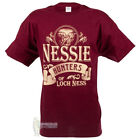 MEN'S PRINT T-SHIRT - NESSIE HUNTERS 2 - BURGANDY - SIZE OPTIONS!