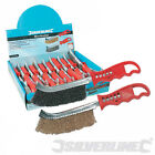 Wire Brush For Cleaning Bricklaying Trowels, Choose Steel or Brass Bristles.