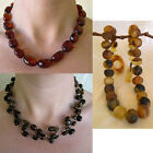 BALTIC HONEY or MULTICOLOR AMBER STERLING SILVER HANDMADE BEAD NECKLACE BEADED