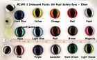 2 PAIR Cat Eyes Safety 28mm or 30mm SLIT PUPIL Iridescent Dragon, Ooak, ISP-1