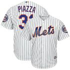 Mike Piazza New York Mets Majestic Cool Base Pinstripe Home Jersey w/HOF Patch