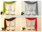 White Voile Net Curtain with pelmet Ready Made WAS 15.99 NOW 14.99