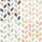 NEW GALERIE UNPLUGGED ABSTRACT LEAF PATTERN RETRO GEOMETRIC VINYL WALLPAPER ROLL