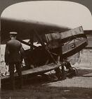 Huge armour-plated battle plane captured from the Germans - WW1 Stereoview #094