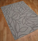 "Natural Flatweave Rugs Large Sand and Black in size 160x230cm (5'3""x7'7"")"