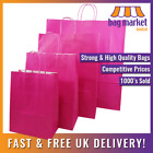 Strong Pink Kraft Twisted Handle Paper Carrier Bags! | Shop/Gift/Fashion/Party!