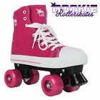 NEW ROOKIE QUOD CANVAS JUNIOR KIDS GIRLS LADIES QUAD LACE UP ROLLER SKATES