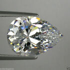 IF Brilliant Pear Colorles White (D-F) Russian Lab Made Diamond AAAAA SUN