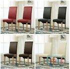 Faux Leather Dining Chairs Roll Top Scroll High Back home commercial restaurants